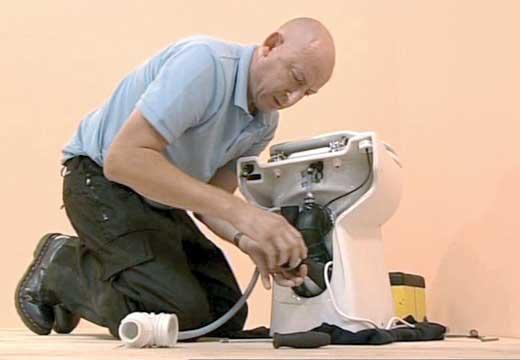 Dépannage sanibroyeur sur Paris 01.40.26.46.41. Spécialiste WC broyeur réparation remplacement